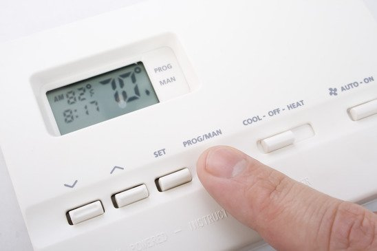 "Example of a ""setback"" thermostat."