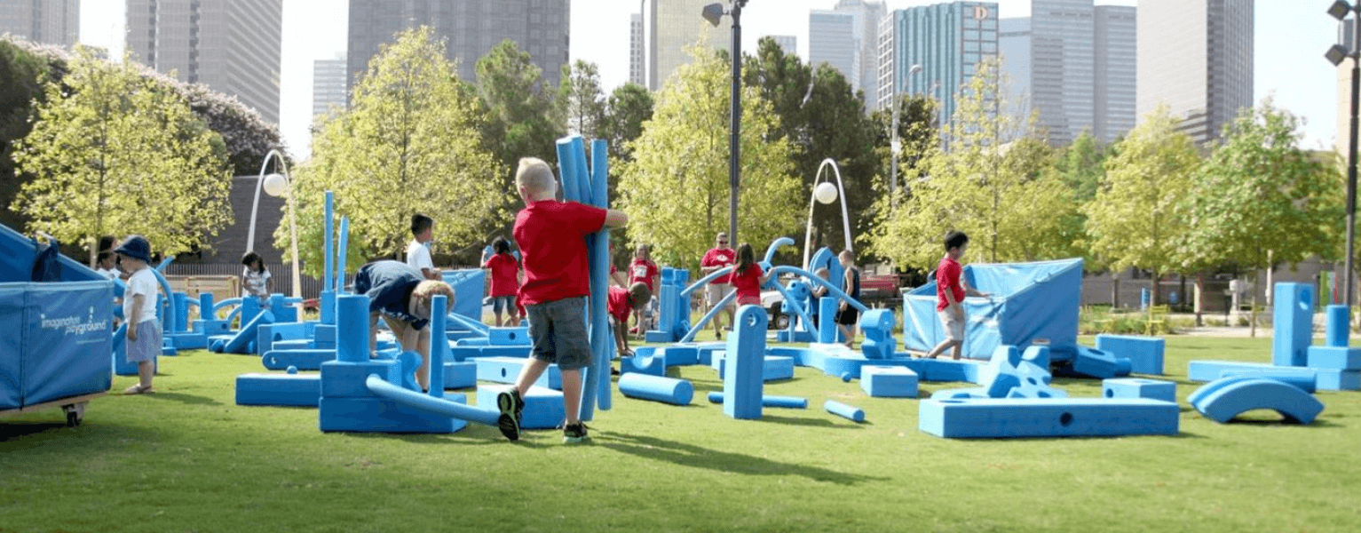 To go along with the interactive tech features, the Imagination Playground will include loose parts to encourage children to be creative.