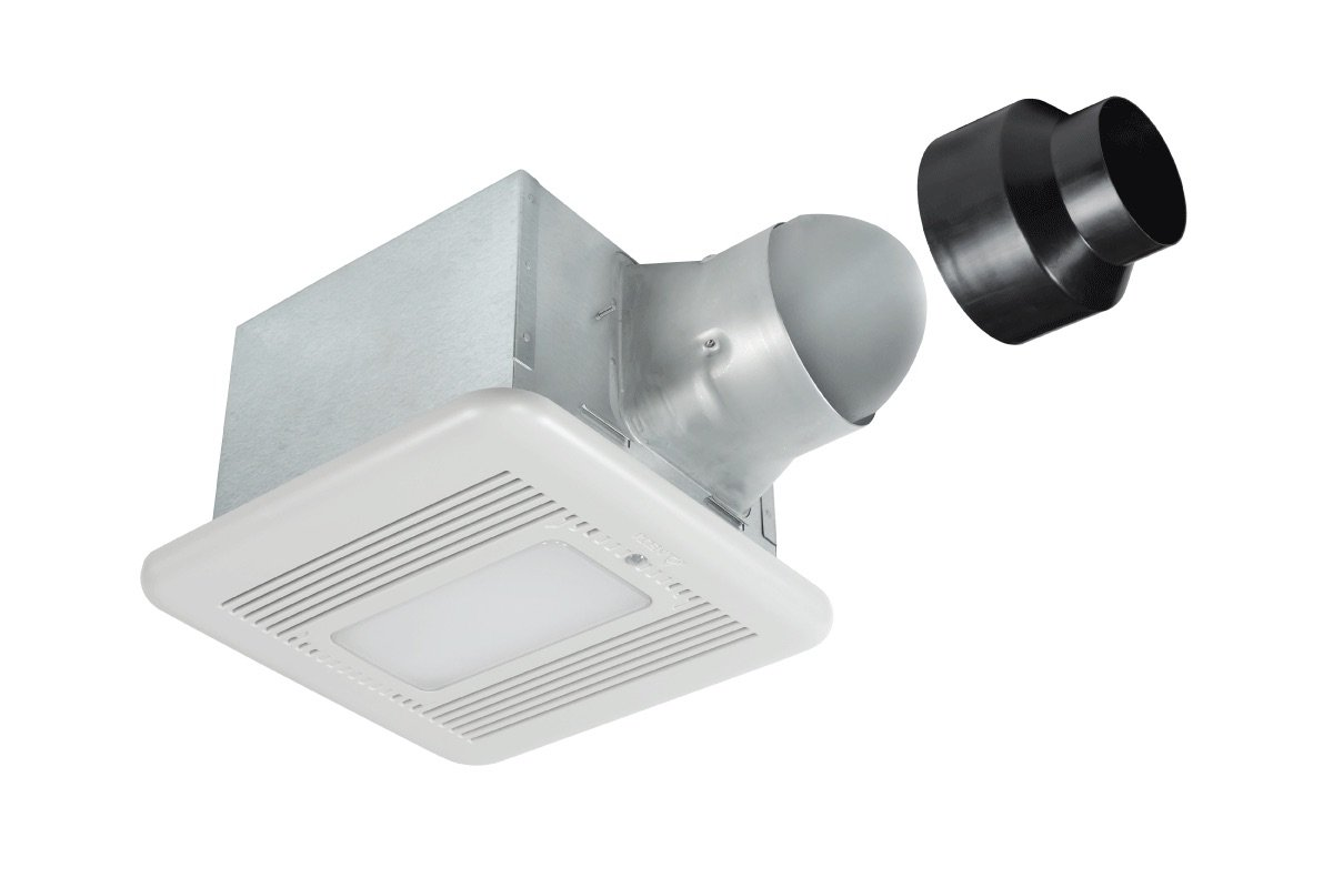 Delta Products' BreezSignature SIG80-110MHLED 80/110 CFM Fan/Dimmable LED Light & Night-light with Humidity & Motion Sensors